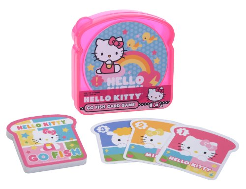 Pressman Hello Kitty Go Fish Card Game in Sandwich Container