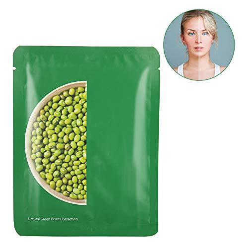 10pcs Mascarilla Hidratante, Mascarilla Mung Bean, para Blanqueamiento y Hidratación y Cuidado de la piel cara