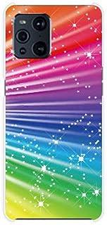 スマホケース OPPO Find X3 Pro OPG03 オッポ ファインド エックススリー プロ 対応 au ハード カバー ケース Colorful Shine Star Flash