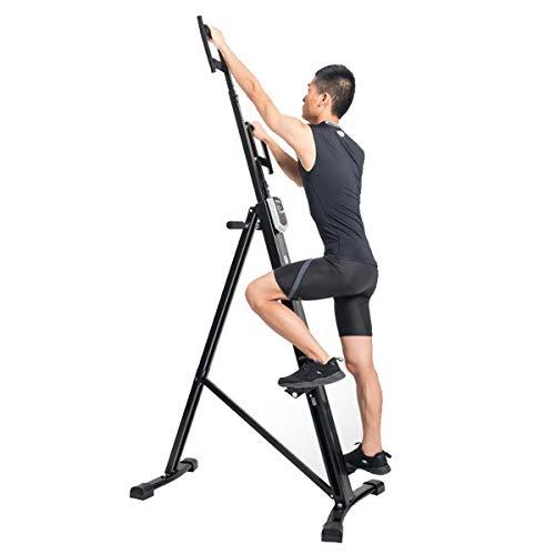 Kays Vertical Climber Maschine Übung Stepper Faltender vertikaler Kletterer Übung Cardio-Trainingsmaschine Treppen-Stepper für Home Gym Fitness mit LCD-Monitor Max-Kapazität 150kg