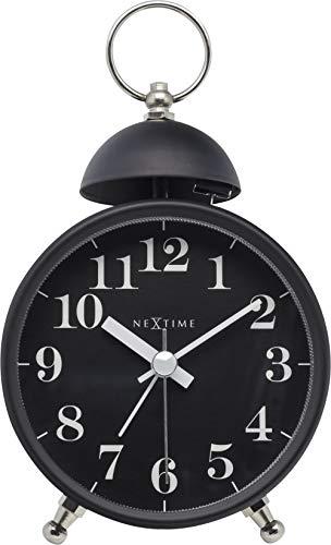 NeXtime NE-5213ZW Wekker Single Bell 16x9.2x5.4 Metaal Zwart
