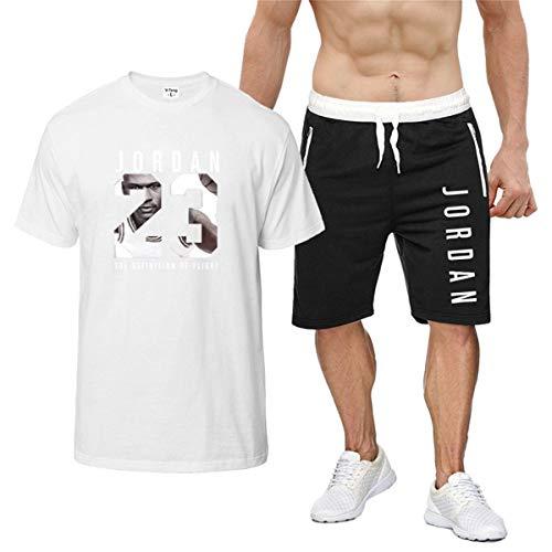 OUHZNUX Verano Baloncesto Deportes Algodón Camiseta Suelta