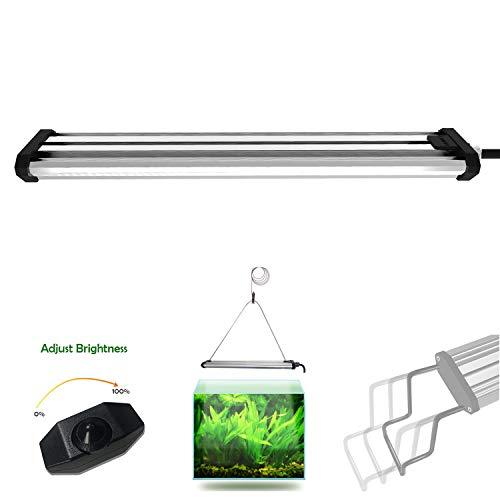 Lumini LED Aquarium Licht, Salzwasser Süßwasser Aquarium Licht für Korallen, Nano Aquarium gepflanzt(Bar15H)