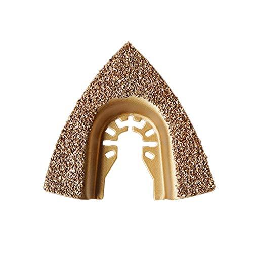 QiKun-Home Herramienta oscilante multifunción de carburo de Diamante, Hojas de Sierra de molienda para cerámica, Herramienta de Corte de Metal para baldosas de Porcelana, Oro E