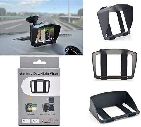 Digicharge Sonnenschutz Visier für Navigationsgerät Navi Sat NAV Mit 5'' oder 4,3'' LCD Screen Anti-Glare GPS mit sicherer und robuster Armband passend Design Digital Accessories Ltd