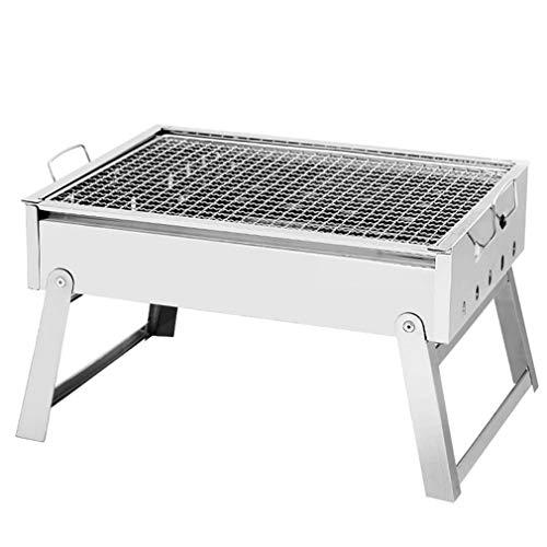 LJYMM - Barbacoa de carbón de madera, portátil, camping, utensilio de jardín al aire libre