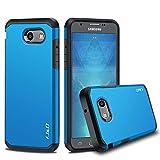 J&D Case Compatible for Galaxy J3 Emerge/Galaxy J3 2017 / Galaxy J3 Prime Case, Heavy Duty [Dual Layer] Hybrid Shock Proof Protective Rugged Bumper Case for Samsung Galaxy J3 Emerge Case - Blue