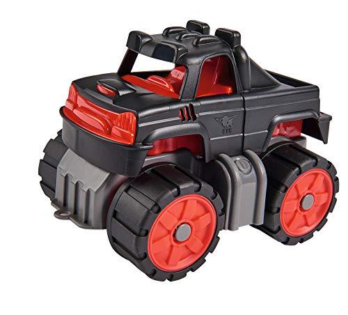 BIG-Power-Worker Mini Monstertruck, kleines Spielzeug Auto ideal für Unterwegs, Reifen aus Softmaterial, rot, schwarz, anthrazit , für Kinder ab 2 Jahren