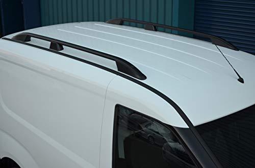 ALVM Parts & Accessories Juego de barras laterales de aluminio negro para portaequipajes L1H1 Doblo (2010+)
