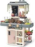 Kids Play Kitchen KOSIEJINN 42 Piezas de Juego de Cocina de Juguete para niños con Luces y Sonidos realistas Juego de Cocina para niños de 3 a 8 años de Edad