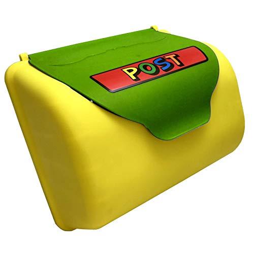 TikTakToo Kinder Briefkasten für Spielturm oder Spielhaus, Kletterturm Zubehör Spielplatz apfelgrün gelb