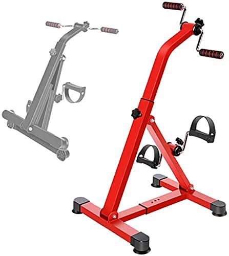 FDGSD Bicicleta de rehabilitación, Resistencia Ajustable, Oficina en casa, Mini Bicicleta de Pedal, Entrenador de Pedales portátil Superior e Inferior, ejercitador de Brazos y piernas para Persona