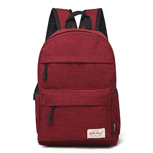 Laptop Case, Universal Multi-Function Canvas Cloth Laptop Computer Shoulders Bag Leisurely Backpackage Students Bag, Size: 36x25x10cm, For 13.3 inch and Below, Laptop Sleeve Case (Color : Red)