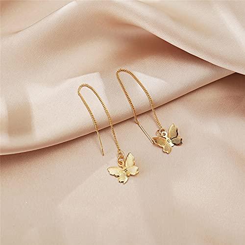 FEARRIN Pendientes para Mujer Stud Pendientes Colgantes de Mariposa Vintage para Mujer Boho Gold Pendiente de Borla Larga Brincos Jewelry Declaración de Regalos 5178001