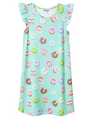 Jxstar Nighggowns for Girls Pajamas Princess Sleepwear Flutter Sleeve Dresses