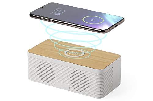 MKTOSASA - Altavoz Bluetooth 5.0 con Cargador Inalámbrico de Carga Rápida 10W....
