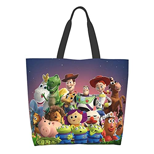 Toy Story Bolsa de hombro de dibujos animados de gran capacidad multiusos de lona bolsos de ordenador portátil
