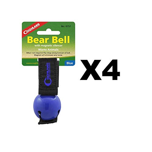 Coghlan's 4-Pack Bear Bell Blue with Magnetic Silencer & Loop Strap