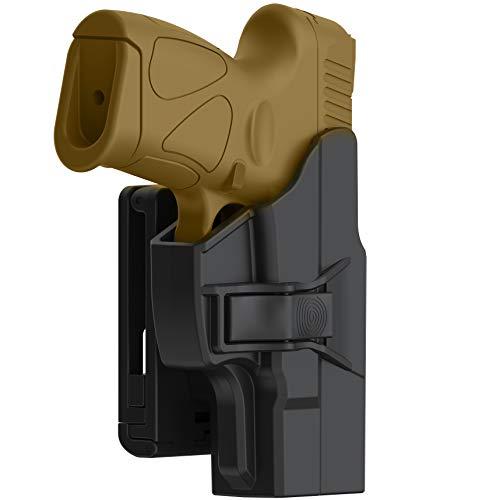 efluky Taurus G2 G3 G3C G2C Holster, Tactical OWB Paddle Holster Fits Taurus Millennium G2C G3 G3C G2 PT111 PT132 PT138 PT140 PT145 PT745(Not Pro) with Trigger Release Adjustable Cant, Right-Handed