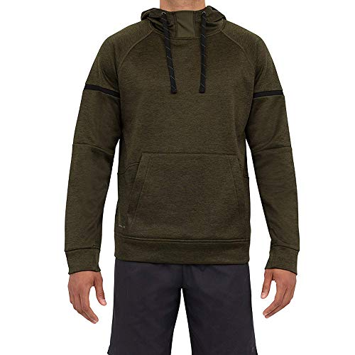 Layer 8 Men's Hoodie Performance Light Weight Training Tech Fleece Athletic Sweatshirt (Medium, Night Forest Heather)