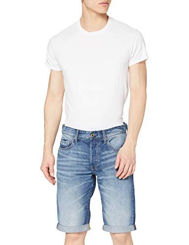 G-STAR RAW Herren 3301 Shorts, Blau (Medium Aged 8973-071), 36W