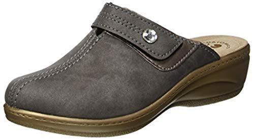 inblu Pantofole Ciabatte Invernali da Donna Art. LY-44 Grigio (36)