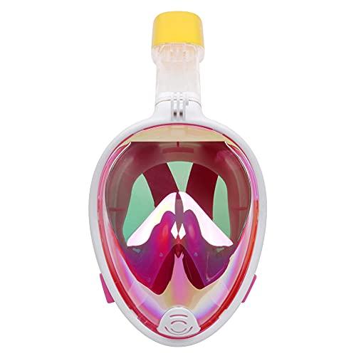 RatenKont Máscara de Buceo con Cara Completa Plegable Anti-Niebla Snorkeling Submarino Scuba Mascarilla Máscara de Gafas Snorkel Equipo de Buceo Pink S/M