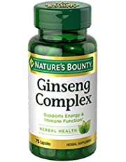 Nature's Bounty Ginseng With Royal Jelly, 75 Capsules