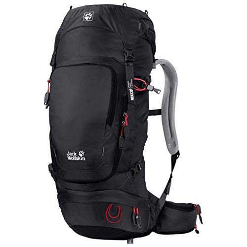 Jack Wolfskin Zaino ORBIT 34L con riflettore RECCO per alpinismo e arrampicata PACK RECCO, Unisex - Adulto, Zaino, 2008861, Nero , Taglia unica