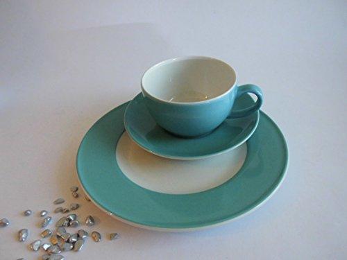 Dibbern Originalware Solid Color - Kaffeetasse m.U. 0,25 + Teller 21 cm - Malibu