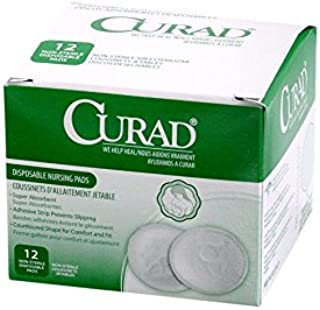 CURAD Disposable Nursing Pads, with Adhesive, (12 Count)