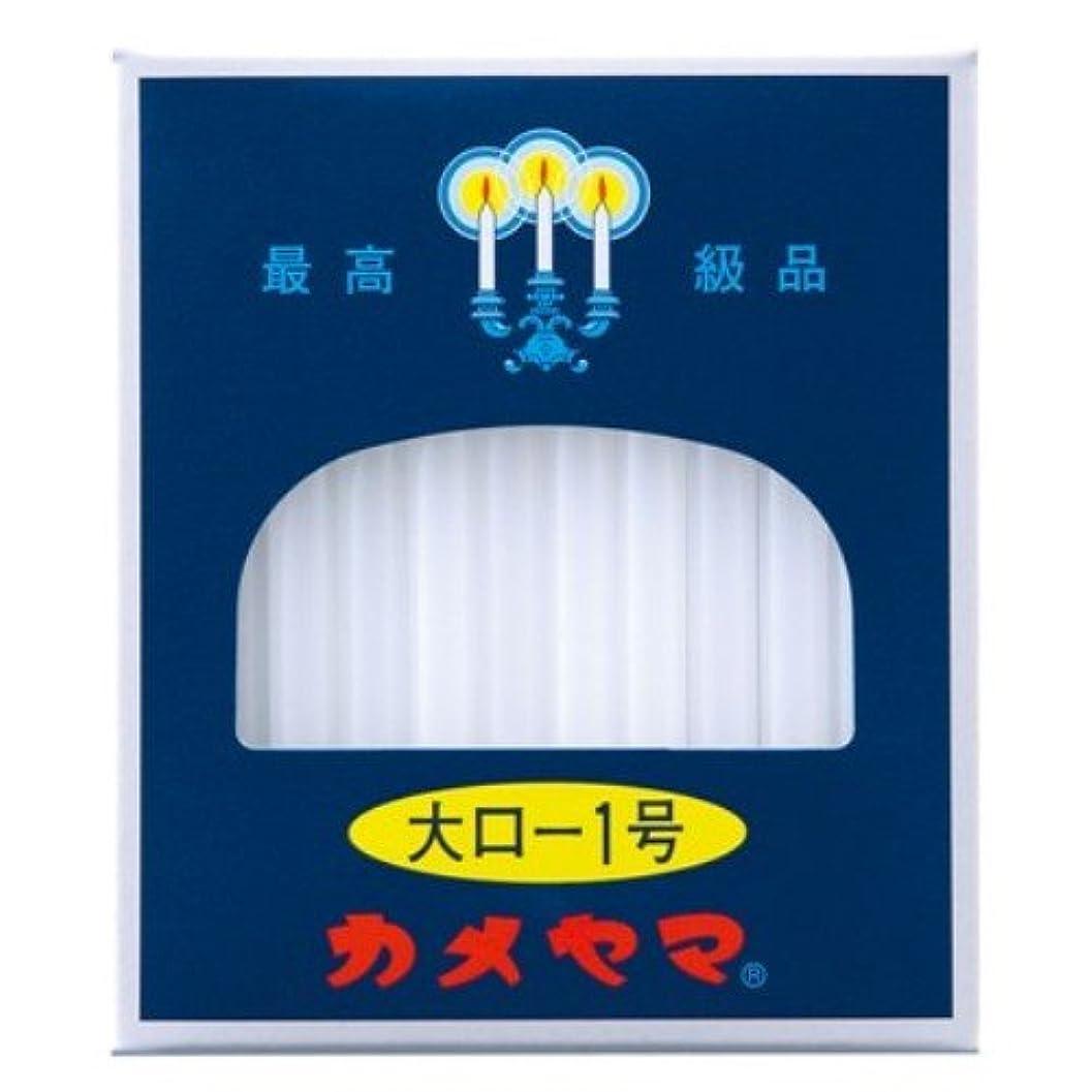 感覚修羅場合体カメヤマ 大ローソク 1号 225g