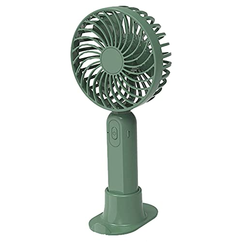 Handheld Fan Portable, Mini Desk Fan Quiet 3 Speeds Adjustable USB Fan 4000mAh Rechargeable Battery Operated Fans Suitable for Office Camping Travel-green