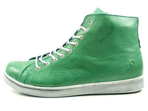 Andrea Conti Sneaker High mit Reißverschluss 0341500 Damen Schnürboots, Größe:39 EU, Farbe:Grün