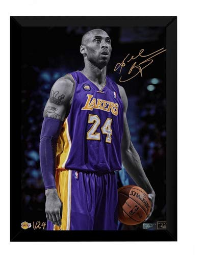 Quadro Kobe Bryant Lenda Basquete Poster Moldurado Esporte
