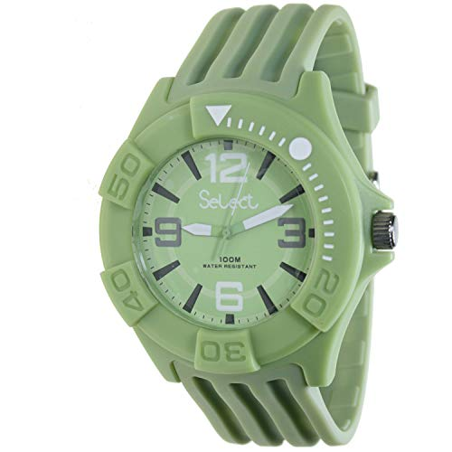 Select Tc-30-16 Reloj Analogico Unisex Caja De Resina Esfera Color Verde