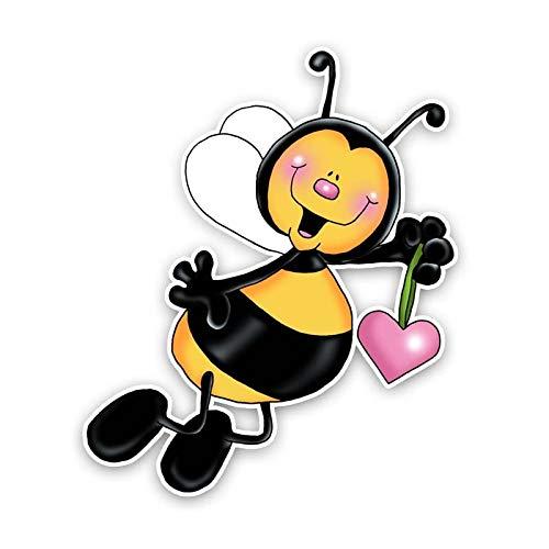 zhcode Auto Aufkleber Lustige Biene Auto-Styling Auto Autoaufkleber, Fahrrad, Wand, Fenster, Kühlschrank, Laptop Aufkleber Aufkleber Dekoration