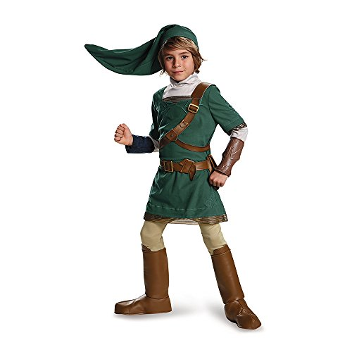 Link Prestige Legend of Zelda Nintendo Costume, Large/10-12