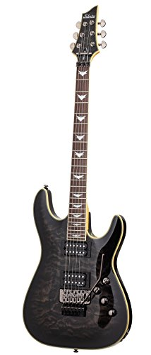 Schecter Guitar Research Omen Extreme-6 FR Electric Guitar - See-Thru Black