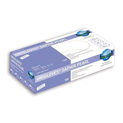 Unigloves Nitril-Handschuhe flieder puderfrei - SAPHIR PEARL - 100 Stck. (Größe: 6-7 / S)