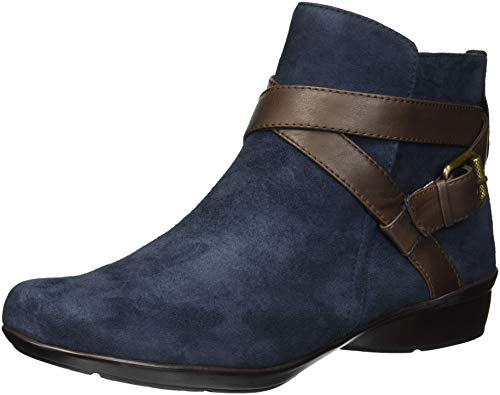 Naturalizer Women's Cassandra Chukka Boot, Navy/Brown, 7 W US