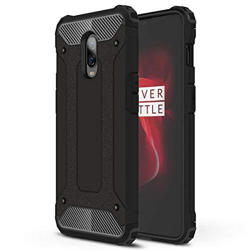 TenYll OnePlus 6T Funda, protección contra Golpes de TPU+PC Resistente a arañazos(Doble Capa),para OnePlus 6T Funda -Negro