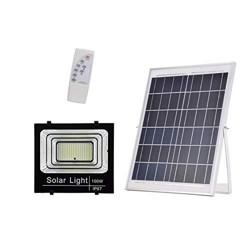 Popertr Luz de inundación impermeable de Seguridad LED luces de inundación 100W Solar...