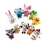 LOVIVER 1 Satz Finger-Puppen Set Kinder Hand Plüschtier Spielzeug Handspielzeug Baby Puppentheater