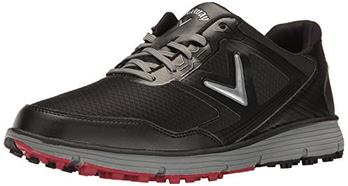 Callaway Men's Balboa Vent Golf Shoe, Black/Grey, 11 D US