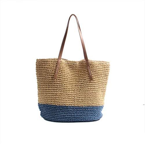 Strandtas voor dames, grote inhoud, koel en eenvoudig design, handgeweven wilde zee, vakantie.