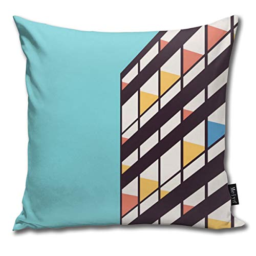 BLUETOP Le Corbusier Pillow Cover, 18 x 18 Inch Winter Holiday Farmhouse Cotton Cushion Case Decoration for Sofa Couch