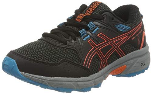 ASICS Gel-Venture 8 GS Trail Running Shoe, Black/Marigold Orange, 39 EU