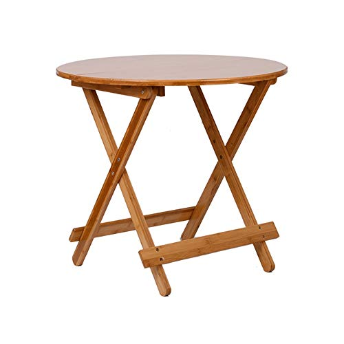ZXQZ Folding Table, Round Table, Dining Table, Laptop Desk, Camping Table, Sofa Tray, Multifunctional Laptop Workstation Tea Table (Size : 70x70x60cm)