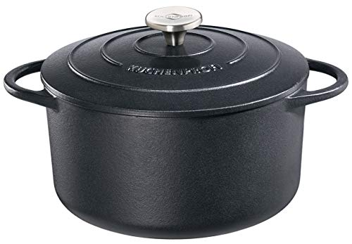 Küchenprofi 401001024 Provence - Cacerola (24 cm), Color Negro